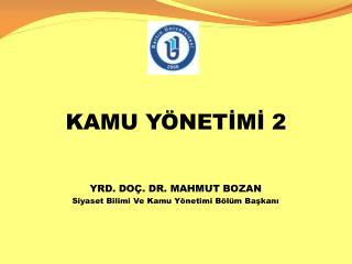 KAMU YÖNETİMİ 2