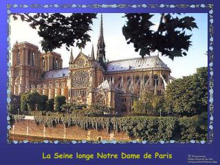La Seine longe Notre Dame de Paris