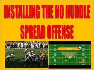 INSTALLING THE NO HUDDLE SPREAD OFFENSE