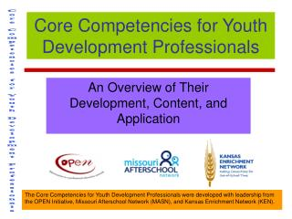 Core Competencies for Youth Development Professionals