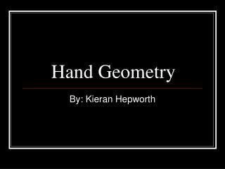 Hand Geometry