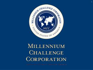 MCC's use of Governance Indicators