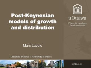 Post-Keynesian models of growth and distribution