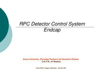 RPC Detector Control System Endcap
