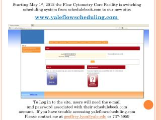Starting May 1 st , 2012 the Flow  Cytometry  Core Facility is switching