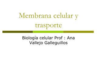 Membrana celular y trasporte