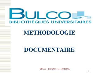 METHODOLOGIE DOCUMENTAIRE