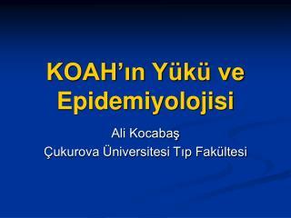 KOAH'ın Yükü ve Epidemiyolojisi