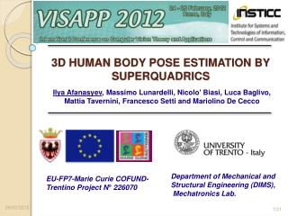 3D HUMAN BODY POSE ESTIMATION BY SUPERQUADRICS