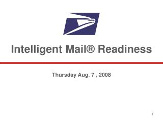 Intelligent Mail  Readiness