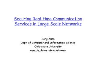 Securing Real-time Communication Services in Large Scale Networks