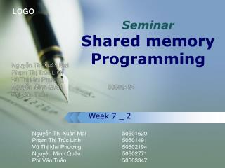 Seminar Shared memory Programming