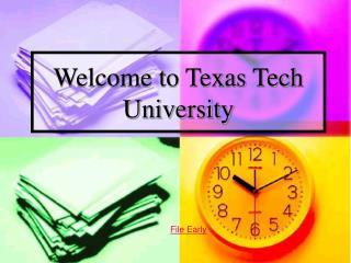 Welcome to Texas Tech University