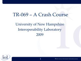 TR-069 � A Crash Course