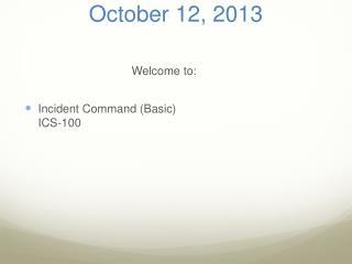 October  12, 2013
