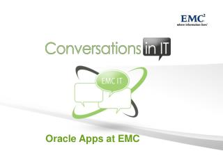 Oracle Apps at EMC