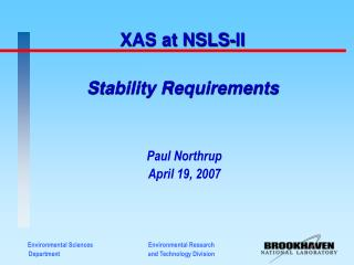 Stability Requirements