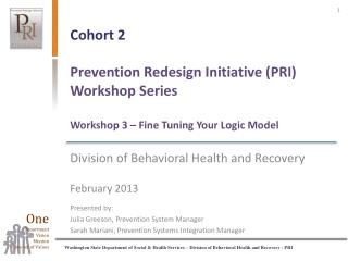 Division of Behavioral Health and Recovery February 2013 Presented by: