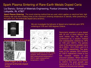 Spark Plasma Sintering of Rare-Earth Metals Doped Ceria