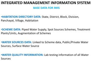 INTEGRATED MANAGEMENT INFORMATION SYSTEM