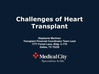 Challenges of Heart Transplant