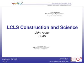 John Arthur SLAC