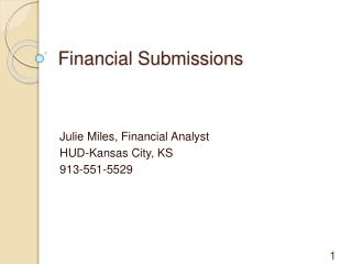 Financial Submissions