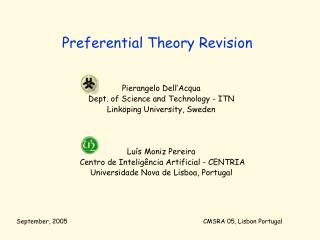 Preferential Theory Revision