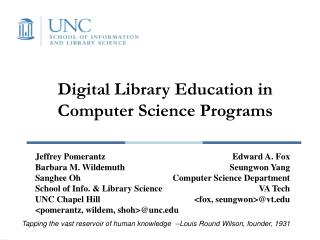Digital Library Education in Computer Science Programs