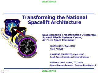 Transforming the National Spacelift Architecture