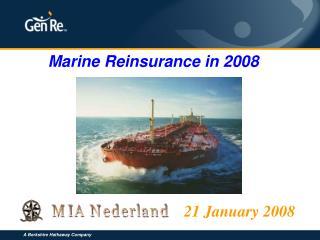 Marine Reinsurance in 2008