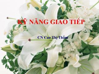 CN Cao Thị Thẩm