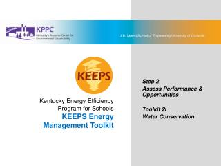 KEEPS Energy Management Toolkit 2I: Water Conservation
