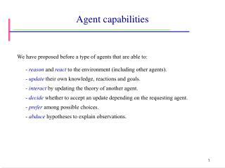 Agent capabilities