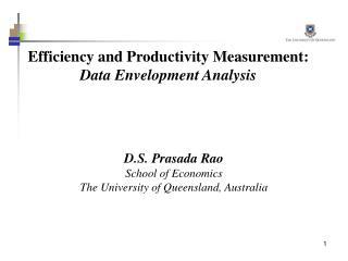 Efficiency and Productivity Measurement: Data Envelopment Analysis