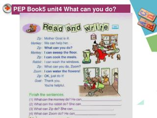 PEP Book5 unit4 What can you do?