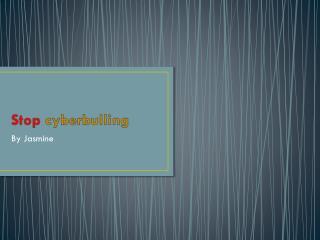 Stop c yberbulling