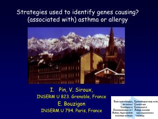 Strategies used to identify genes causing? (associated with) asthma or allergy