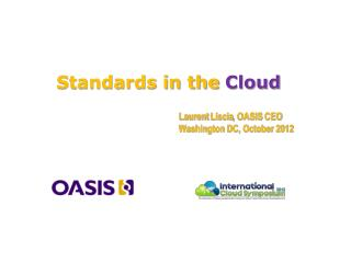 Standards in the  Cloud