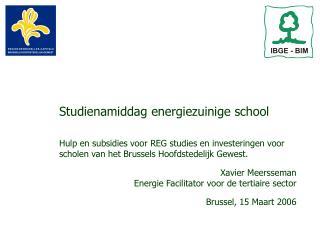 Studienamiddag energiezuinige school