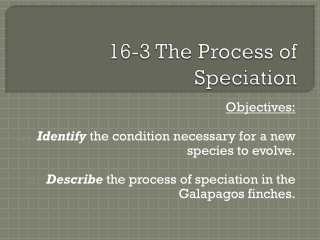 16 3 The Process of Speciation