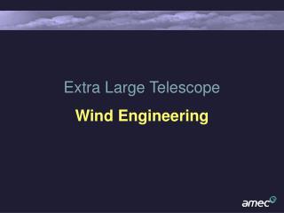 Extra Large Telescope Wind Engineering