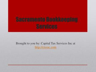 Sacramento Bookkeeping Services