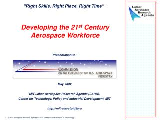 Developing the 21 st  Century Aerospace Workforce