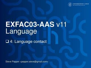 EXFAC03-AAS  v11 Language