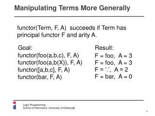 Manipulating Terms More Generally