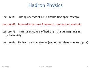 Hadron  Physics