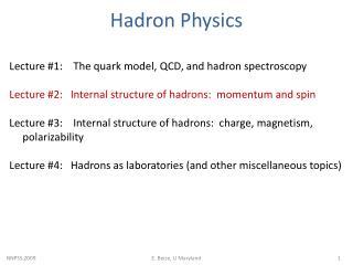 Hadron  Physics