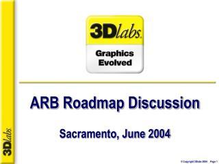 ARB Roadmap Discussion