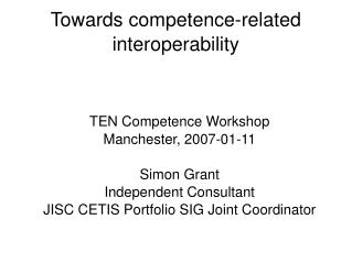 Towards competence-related interoperability